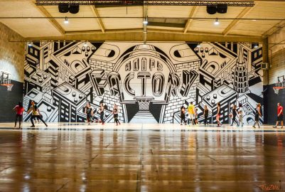 Basketball in Toulouse : An orange ball in a pink city