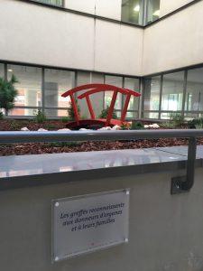 Le jardin japonais du CHU installé en hommage aux donneurs d'organes est un lieu de méditation. Chacun peut reflechir à l'importance du don d'organe pour sauver des vies.