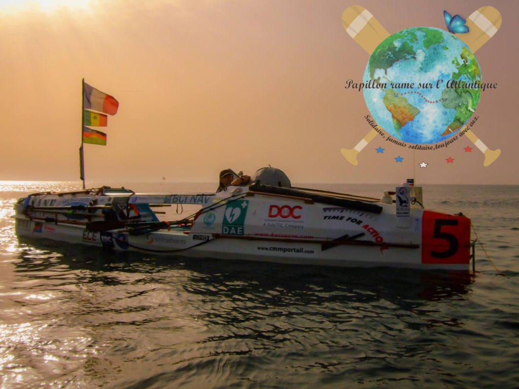 Christophe Papillon fera le trajet en rame des Iles Canaries à la Martinique à bord de l'aviron RKKD. La traversée se fera en solitaire pour aider les orphelins et les familles de militaires tombés au combat.
