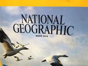 Couverture du National Geographic de mars 2018