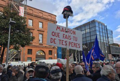 Les retraités dans la rue, Macron dans le viseur