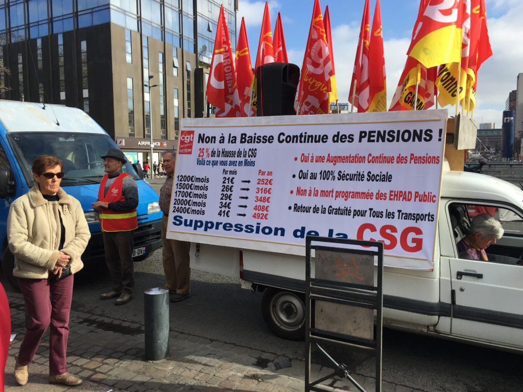 Hausse de la CSG, baisse des pensions. Les retraités comptaient bien se faire entendre à Toulouse.
