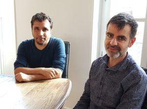 Philippe Birgy et Jean-Pierre Isnardi du Groupe Olifant