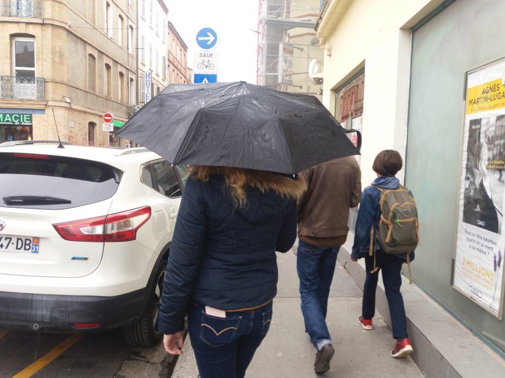 météo: à Toulouse, il pleut depuis le début de la semaine. ©Lopez Maïlys
