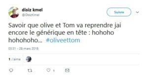 Savoir que olive et Tom va reprendre jai encore le générique en tête hohoho hohohoho...