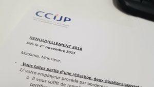 CCIJP: renouvellement carte de presse Crédit: Régis bachelu