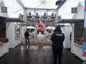 Sécurité renforcée au marché de Noël de Toulouse. Crédit photo Chris Daza