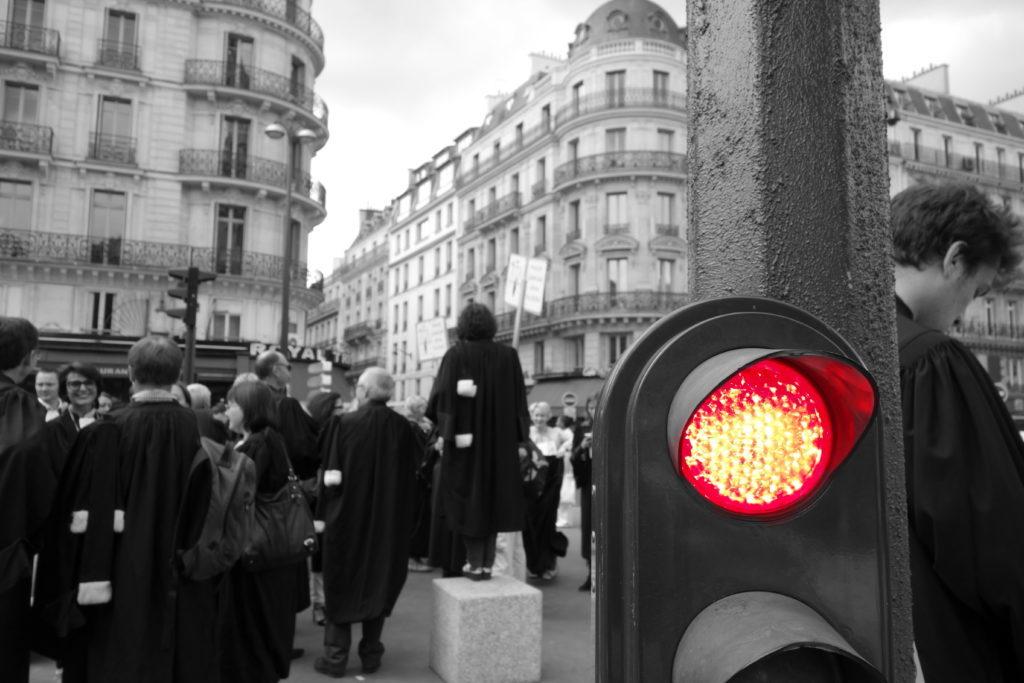 Image d'illustration, grêve des avocats à paris le 7 juillet 2014. Crédit: Petit_louis/CC BY 2.0
