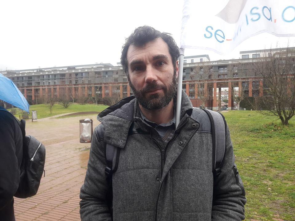 Franck Calmès, professeur en maternelle crédit photo : Chris Daza