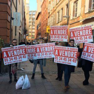 Les commerçants de Toulouse sont en colère