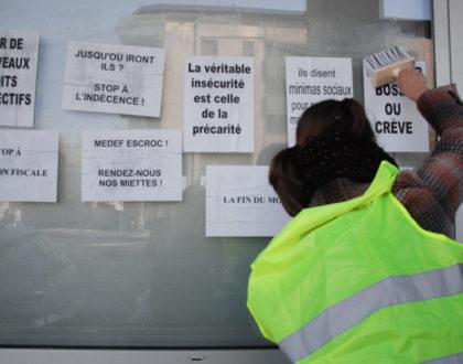 Le collectif «Chômeurs et précaires» occupe le Pôle Emploi de Saint-Michel