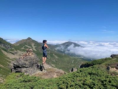 Vanessa Morales lors de son entraînement pour le Kilimandjaro