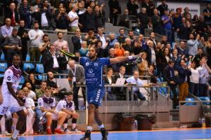 Jordan Bonilauri, pivot de l'équipe du Fénix Toulouse hand-ball