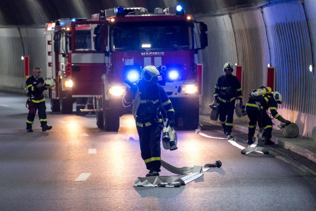 Pompiers lors d'une intervention
