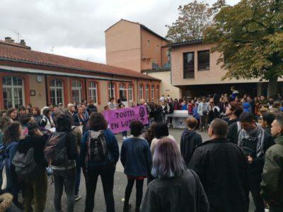 manifestation en réponse au viol au collège Lamartine © Lilou Saint-Viteux