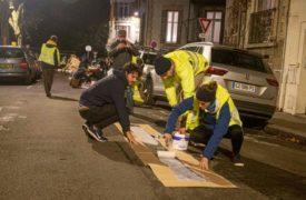 Toulouse : Des militants  tracent illégalement  une piste cyclable