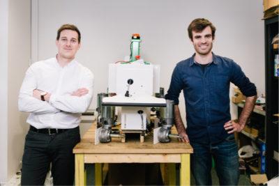 Gaetan severac et et Aymeric Barthes les fondateurs de Naïo Technologies.© Naïo Technologies